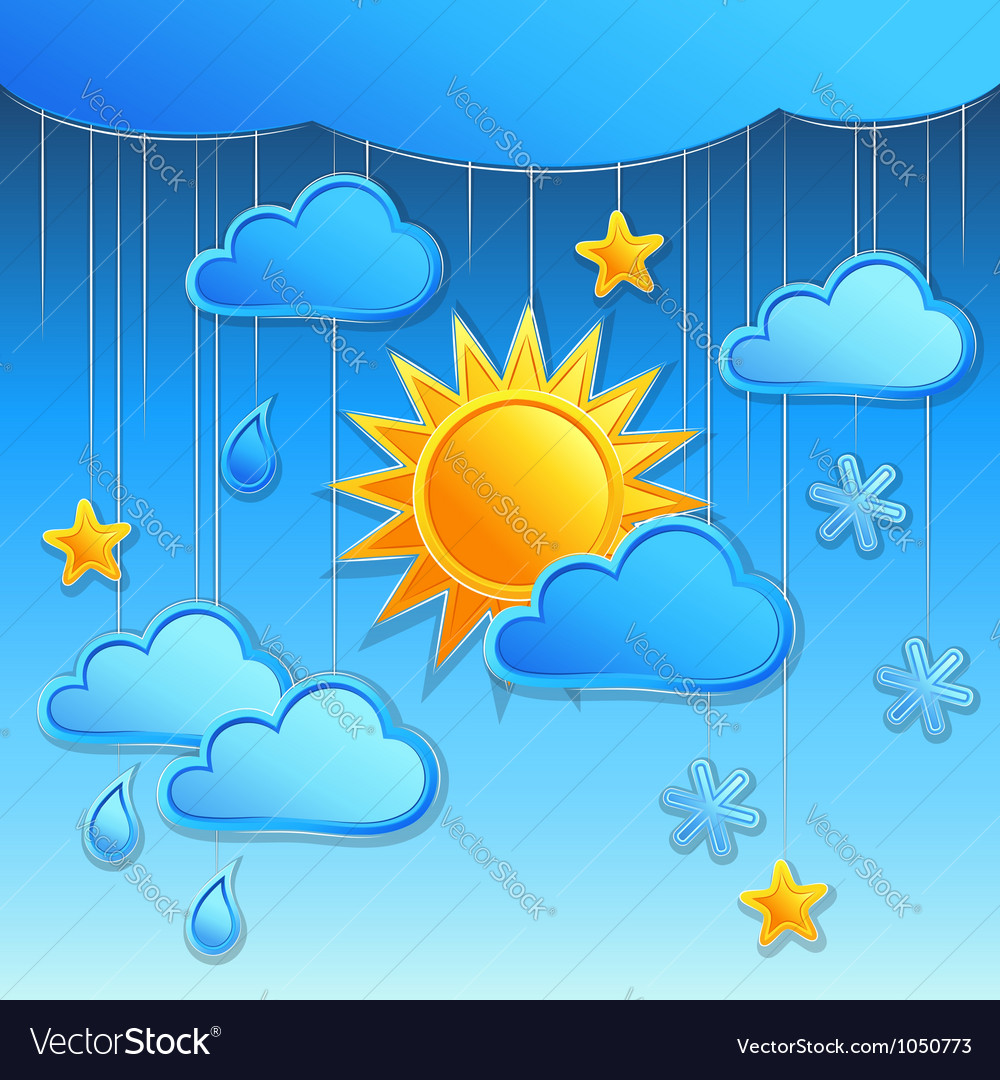 Background with day weather icon vector | Price: 1 Credit (USD $1)