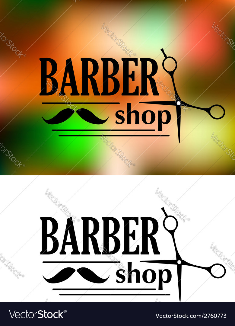 Barber shop emblem vector | Price: 1 Credit (USD $1)