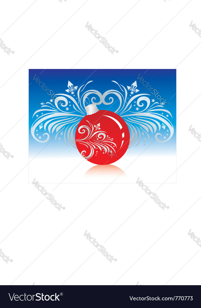 Christmastree decoration vector | Price: 1 Credit (USD $1)
