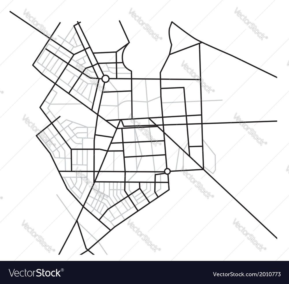 City map - scheme of roads vector | Price: 1 Credit (USD $1)