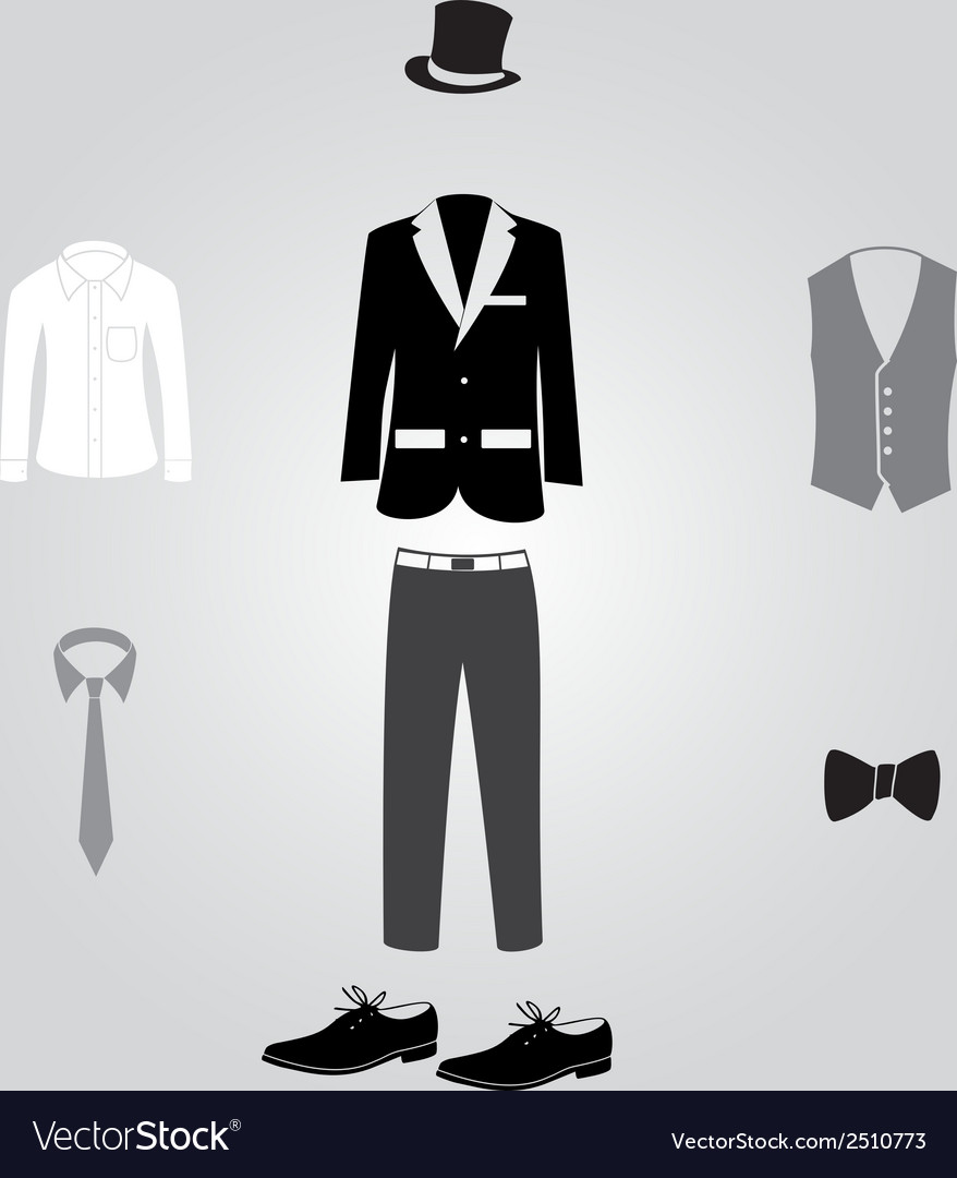 Formal suits and clothing eps10 vector | Price: 1 Credit (USD $1)