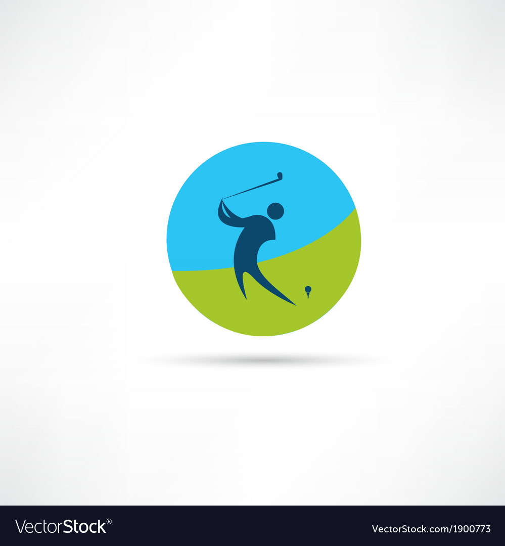 Golf abstraction icon vector | Price: 1 Credit (USD $1)