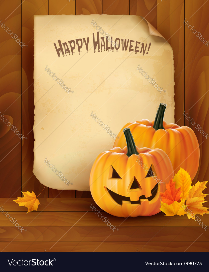 Halloween background with pumpkins vector | Price: 1 Credit (USD $1)