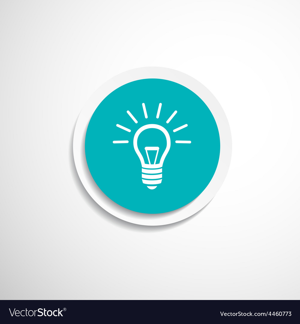 Light bulb icon lamp vector | Price: 1 Credit (USD $1)
