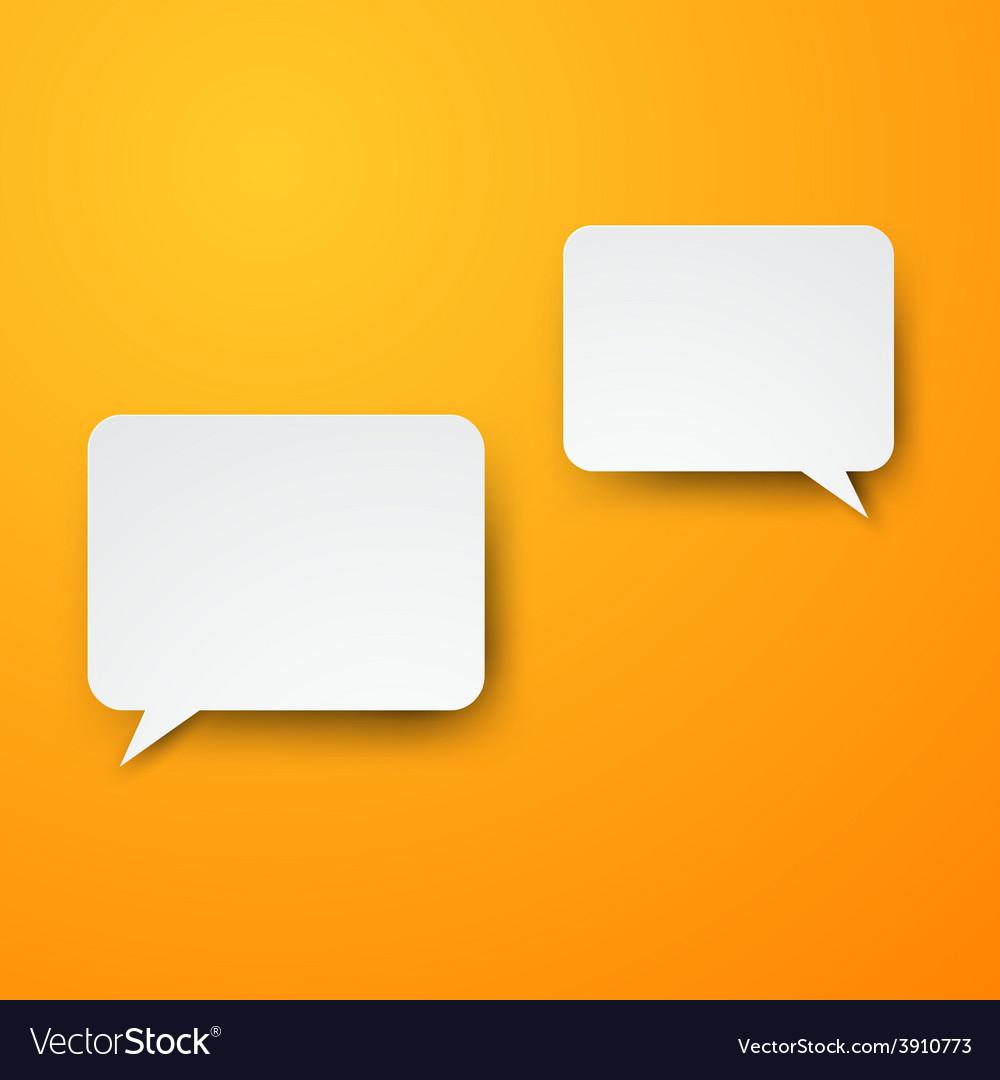 Paper white speech bubbles vector | Price: 1 Credit (USD $1)
