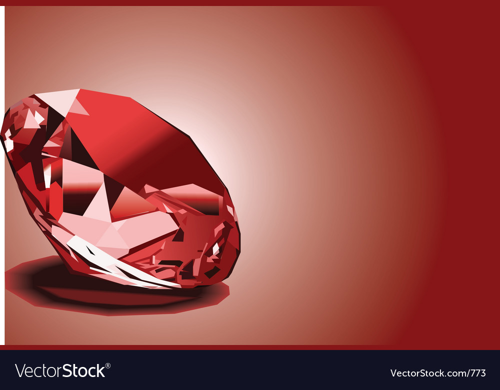 Red ruby vector | Price: 3 Credit (USD $3)