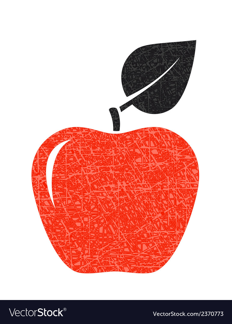 Red texture apple vector | Price: 1 Credit (USD $1)