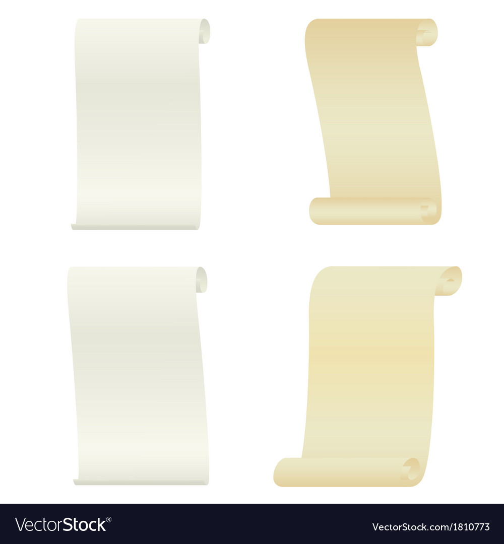 Set of ancient scrolls vector