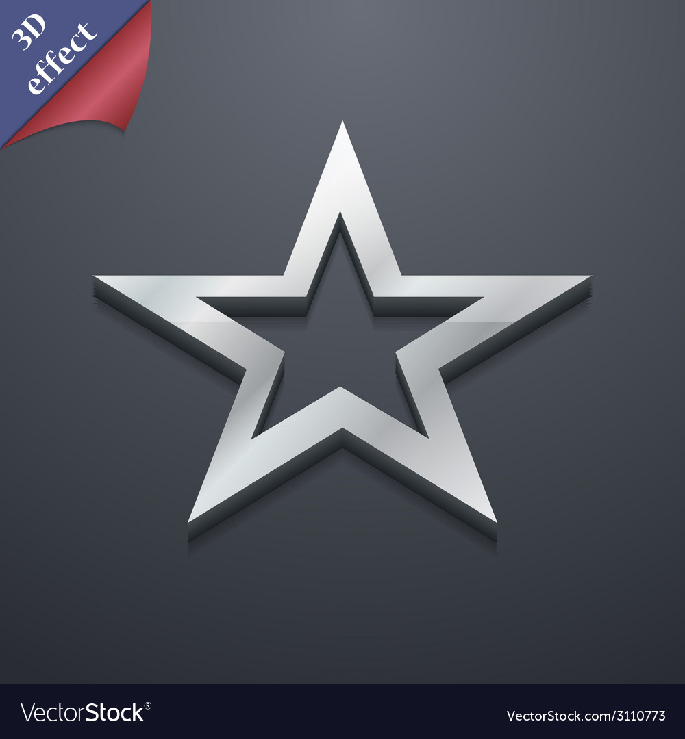 Star icon symbol 3d style trendy modern design vector | Price: 1 Credit (USD $1)