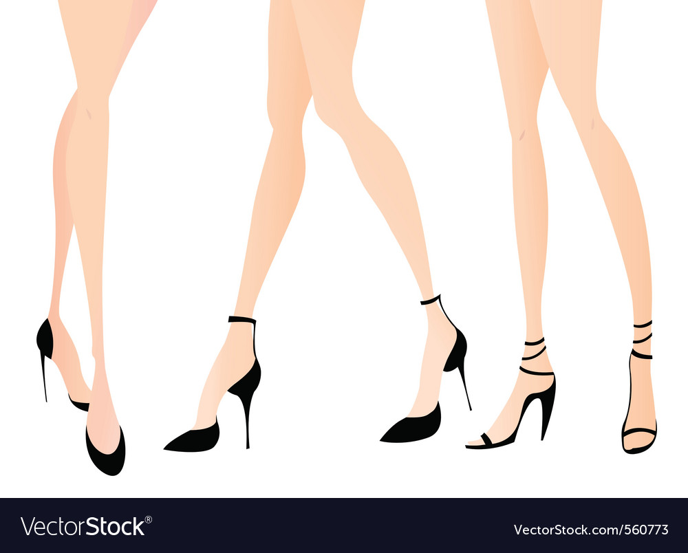 Woman legs vector | Price: 1 Credit (USD $1)