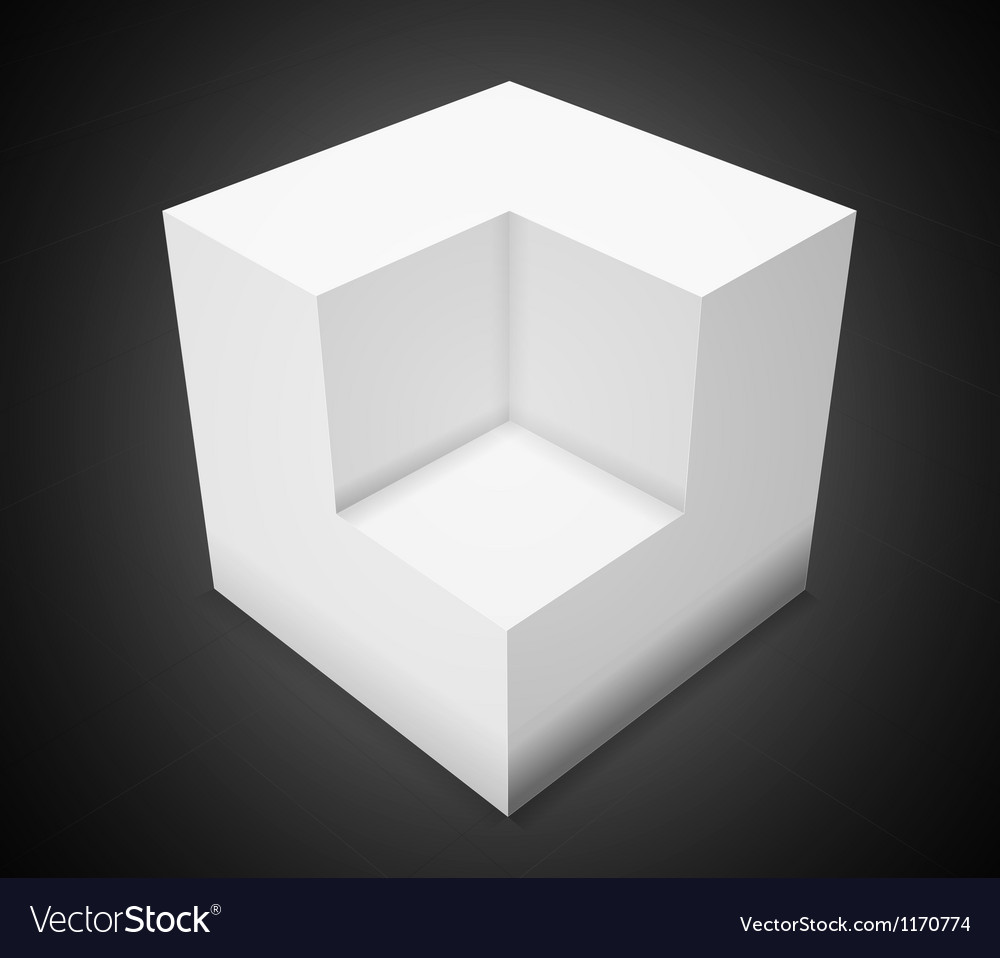 3d abstract backgroundwhite cube vector | Price: 1 Credit (USD $1)