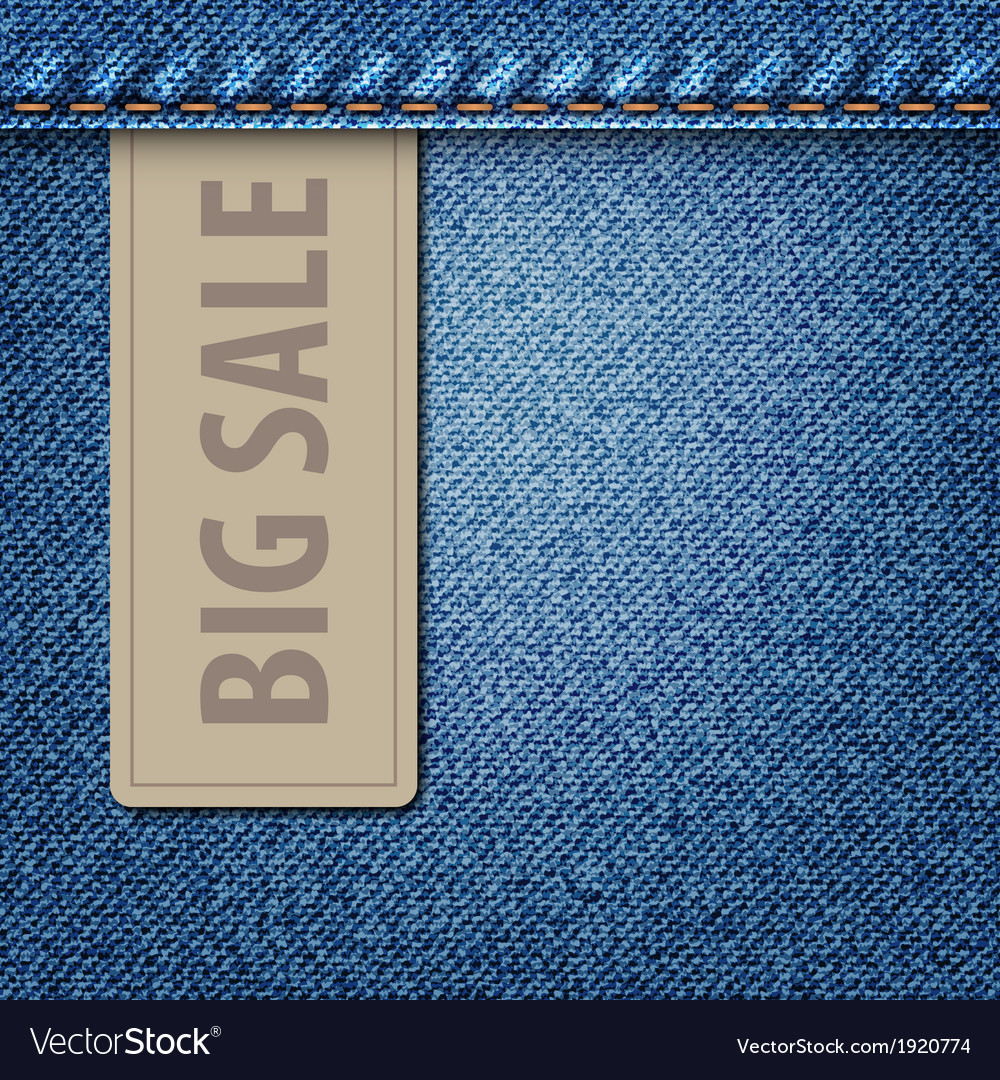 Big sale jeans background vector | Price: 1 Credit (USD $1)