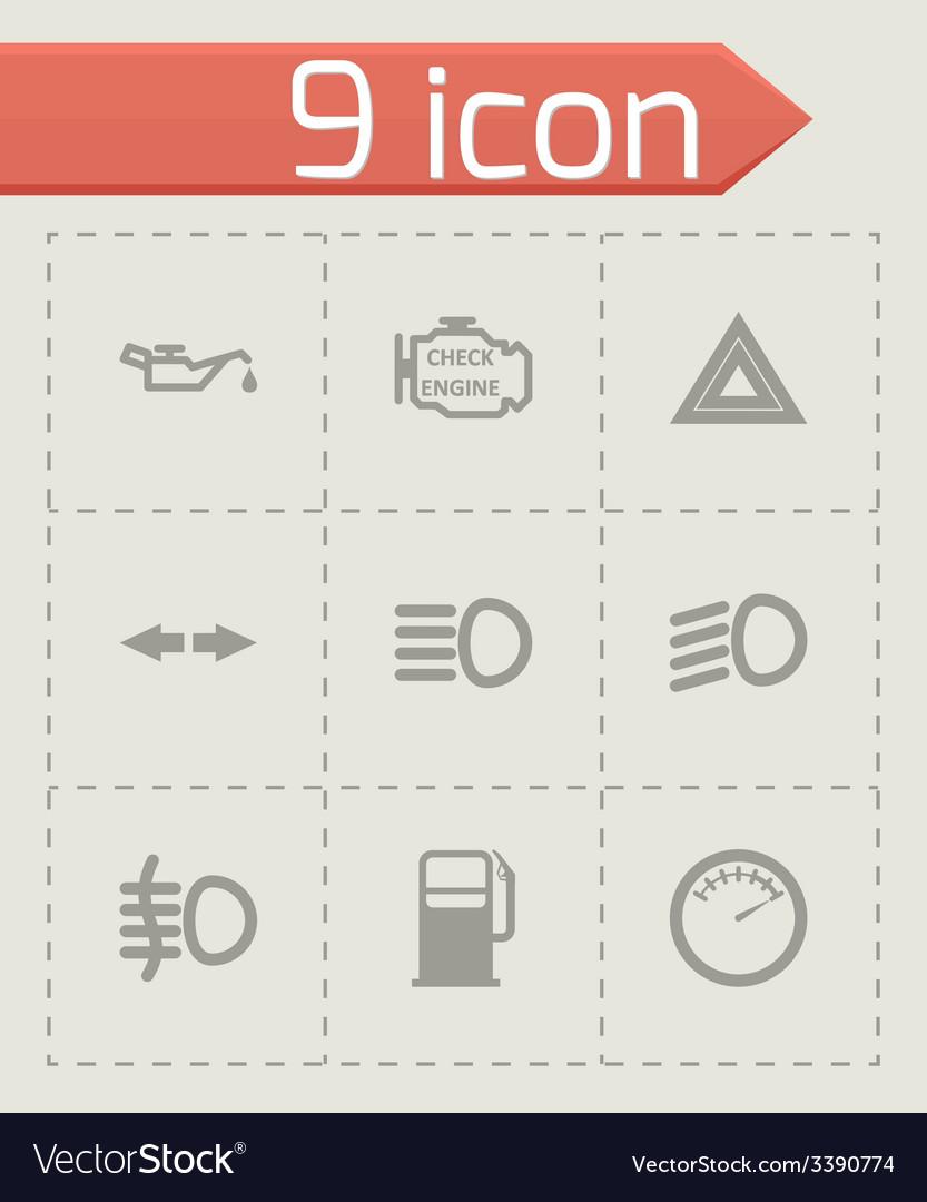 Black car dashboard icon set vector | Price: 1 Credit (USD $1)
