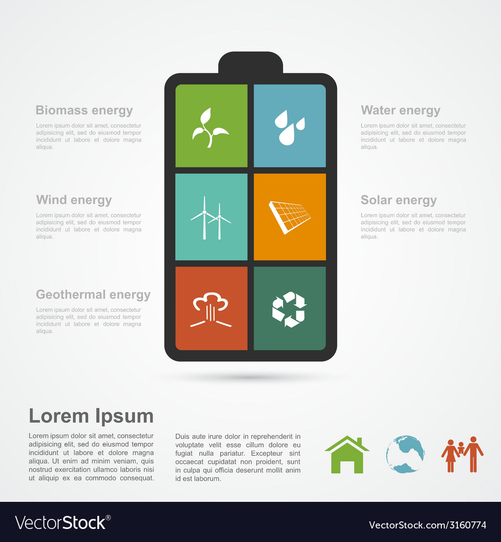 Energy infographic vector | Price: 1 Credit (USD $1)