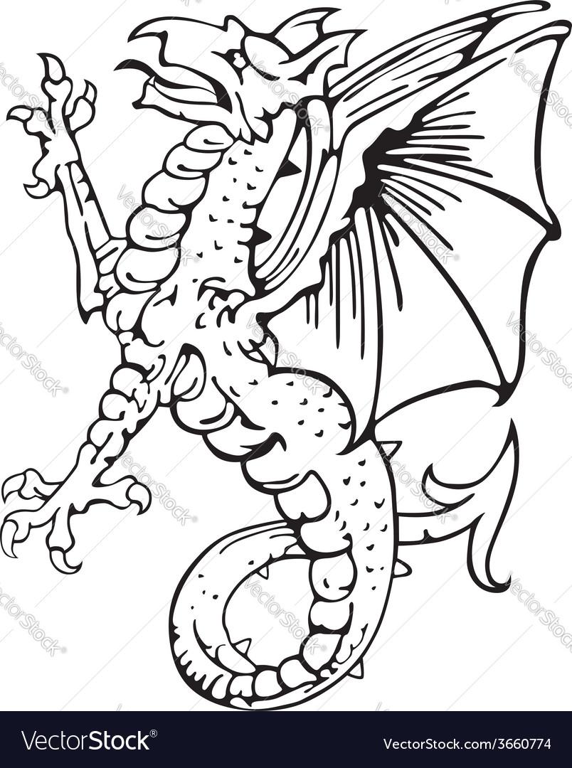 Heraldic dragon no10 vector   Price: 1 Credit (USD $1)