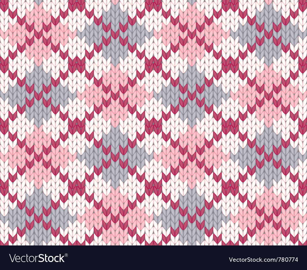 Knitted pattern with rhombus vector | Price: 1 Credit (USD $1)