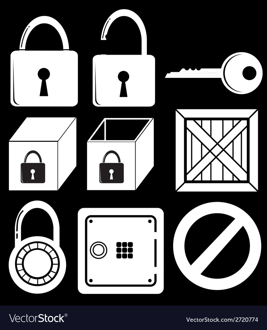 Locking devices vector | Price: 1 Credit (USD $1)