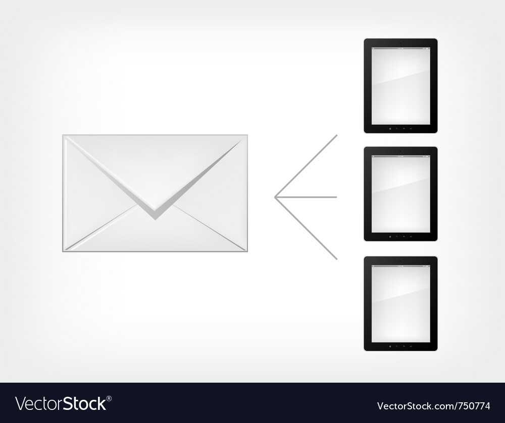 Mail concept tablet pc vector   Price: 1 Credit (USD $1)