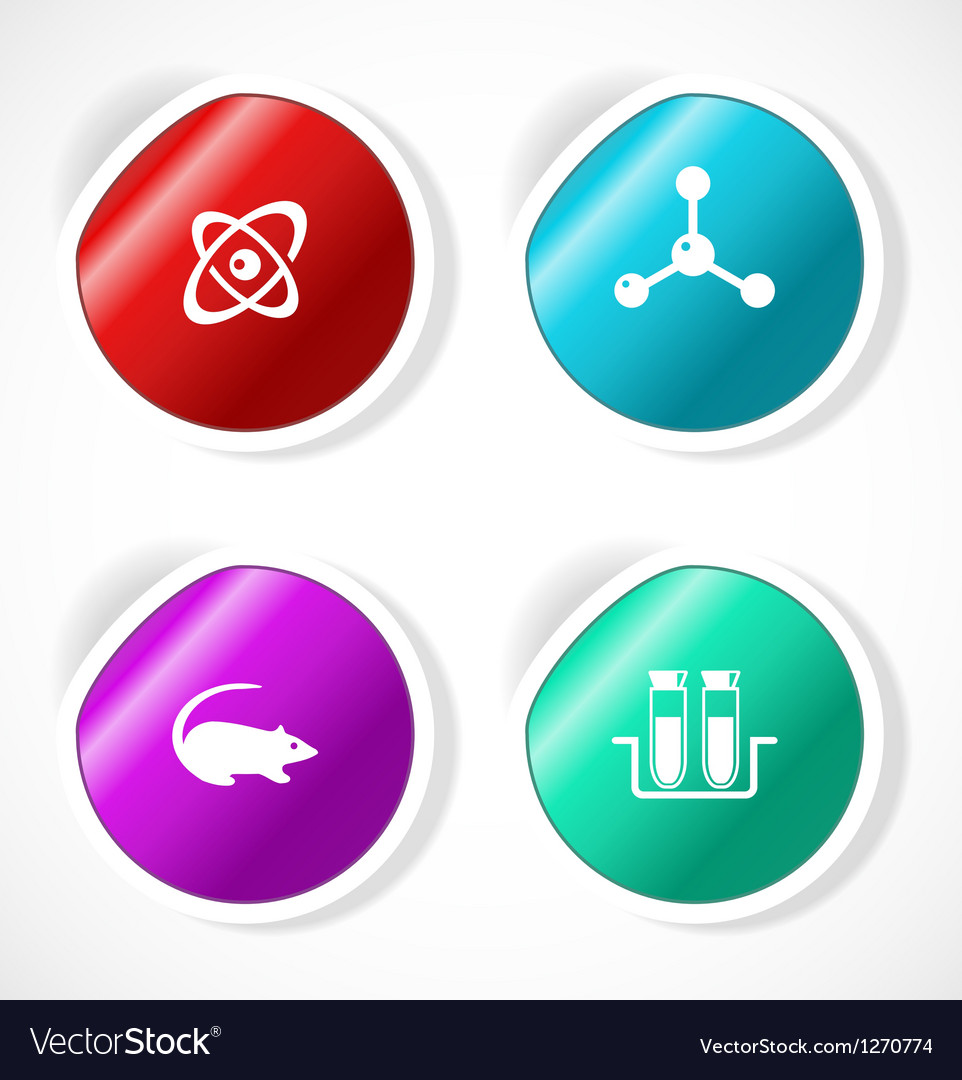 Set of stickers with icons vector   Price: 1 Credit (USD $1)