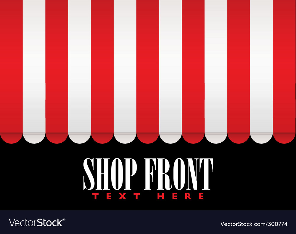Shop front awning vector | Price: 1 Credit (USD $1)