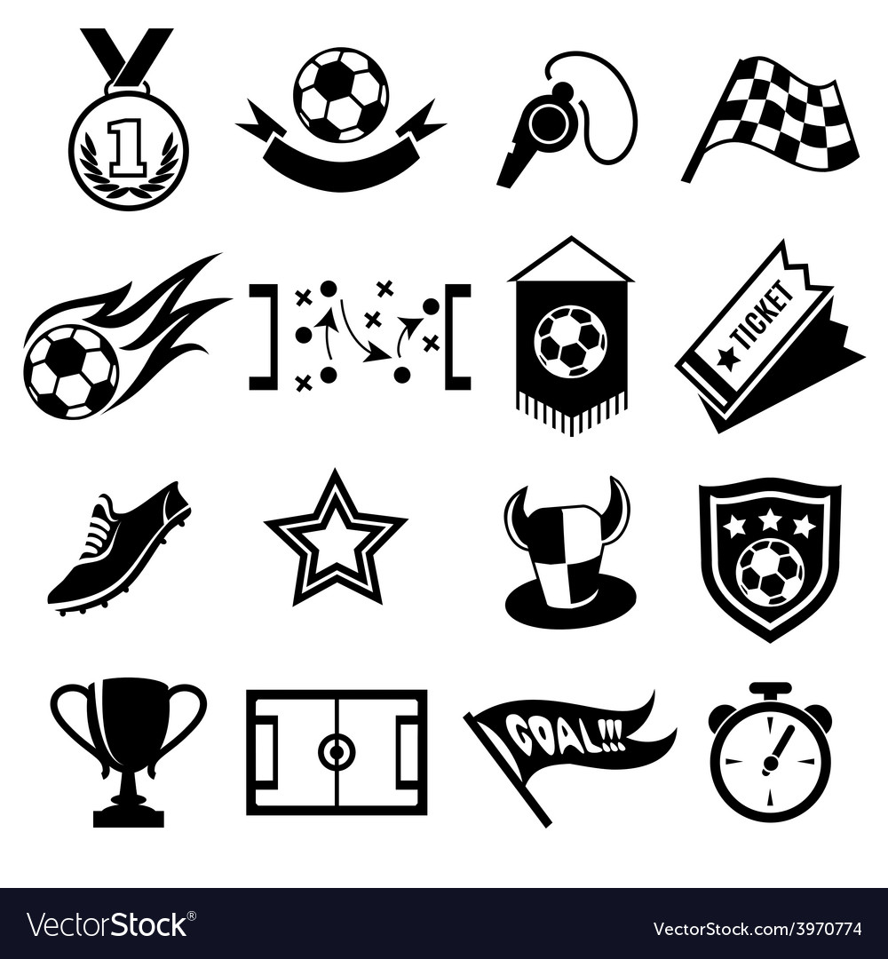 Soccer icons vector   Price: 1 Credit (USD $1)