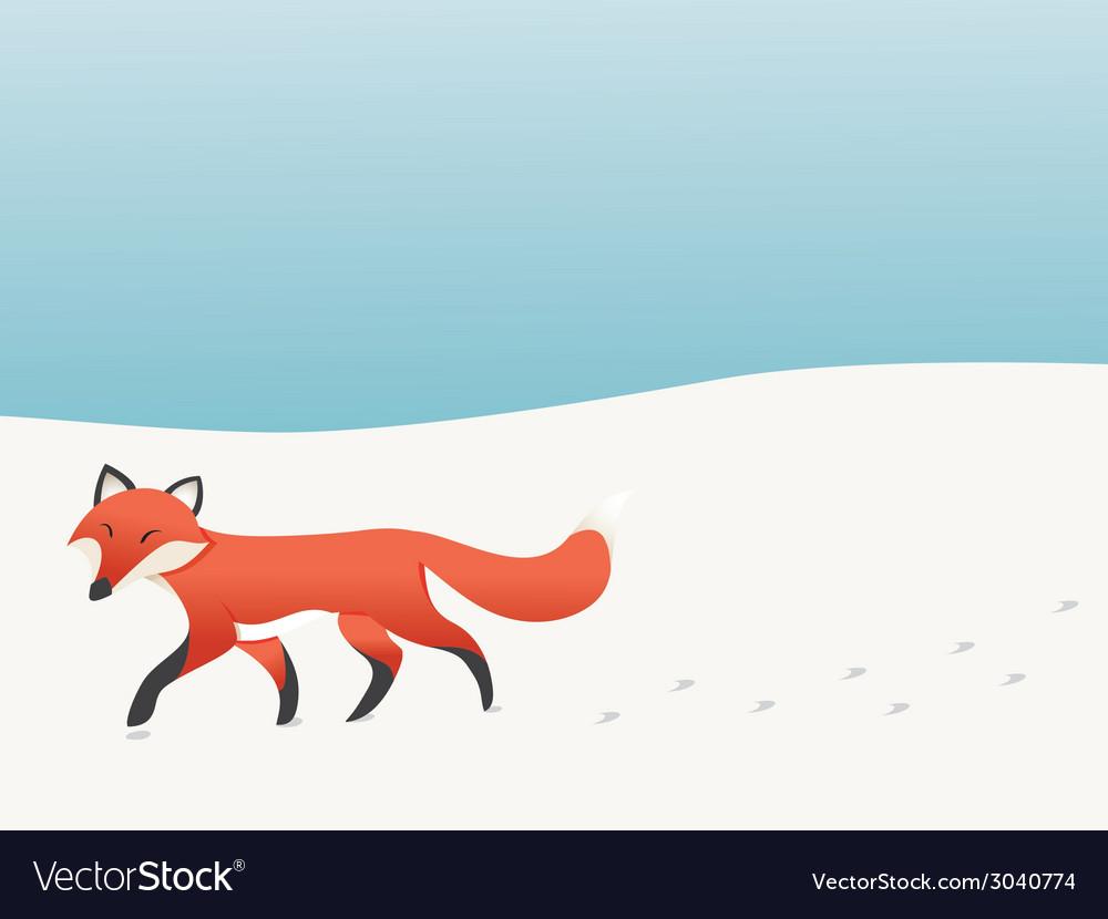 Walking fox vector | Price: 1 Credit (USD $1)
