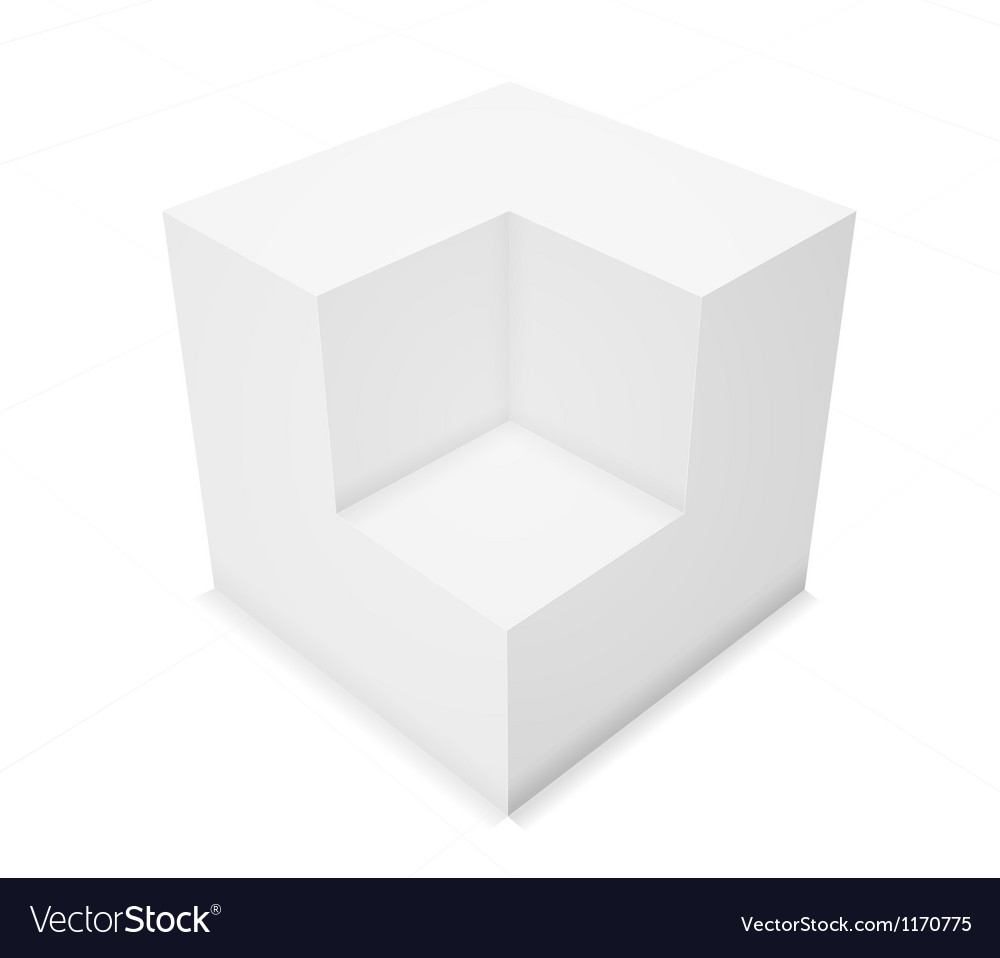 3d abstract background cube vector | Price: 1 Credit (USD $1)
