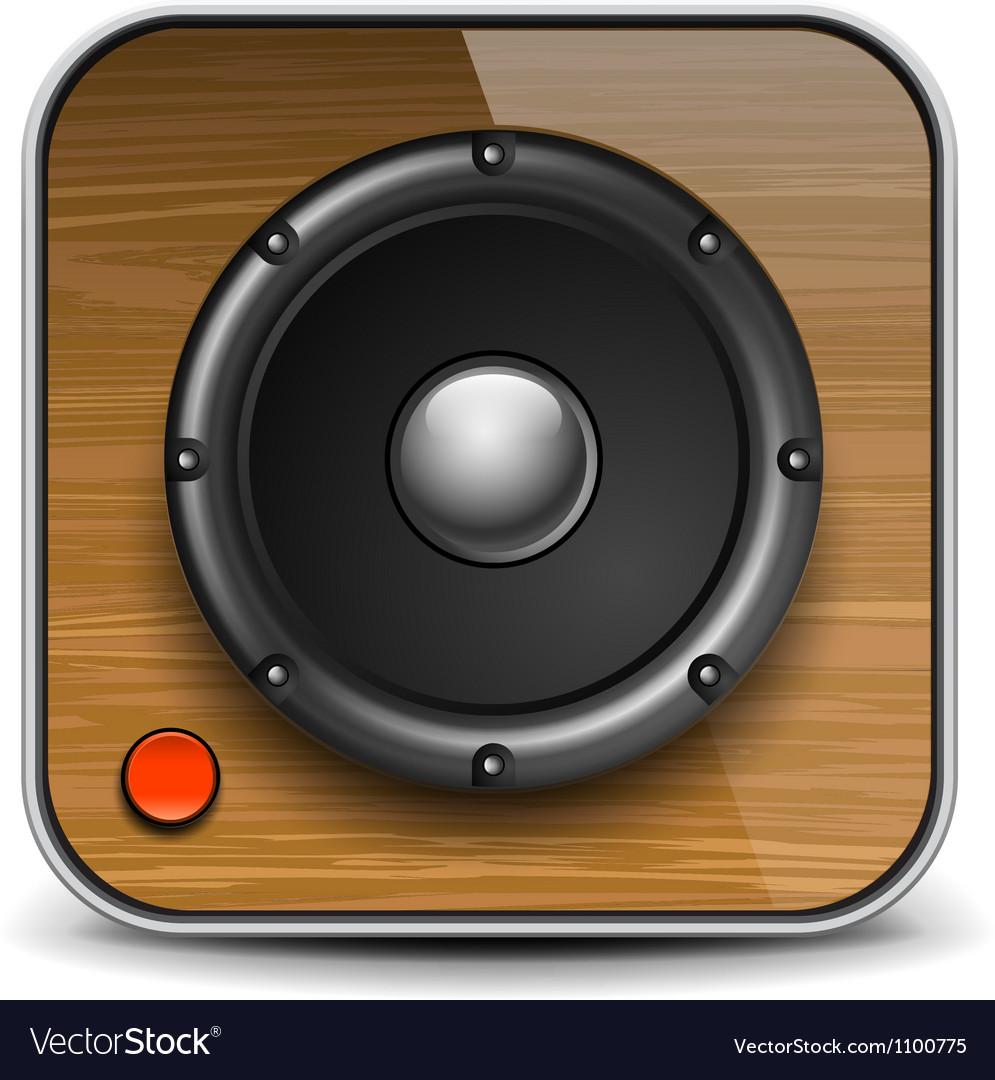 Audio speaker icon vector | Price: 3 Credit (USD $3)
