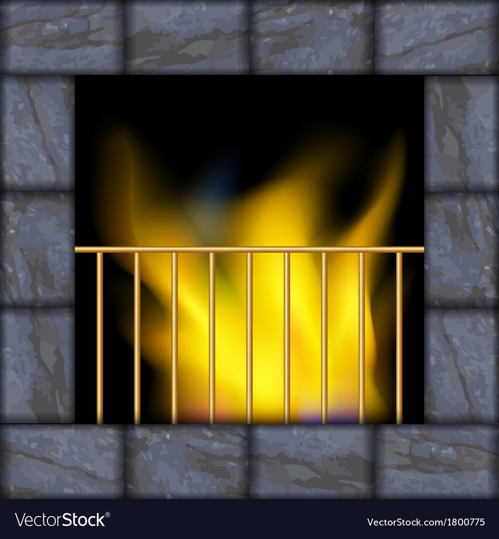 Fire in the fireplace vector | Price: 1 Credit (USD $1)