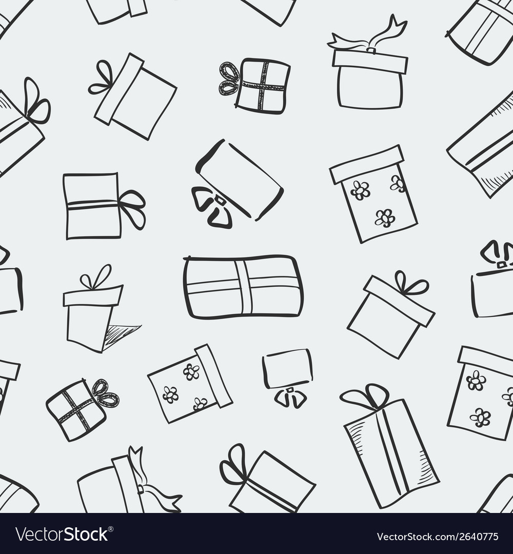 Gift boxes seamless pattern vector | Price: 1 Credit (USD $1)