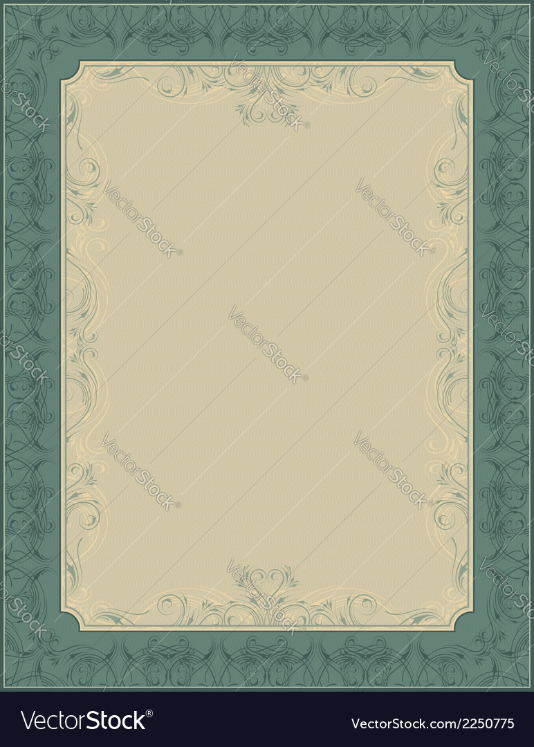 Green document background vector | Price: 1 Credit (USD $1)