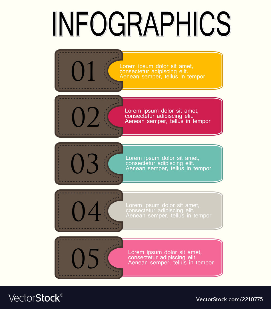 Modern infographic design template vector | Price: 1 Credit (USD $1)