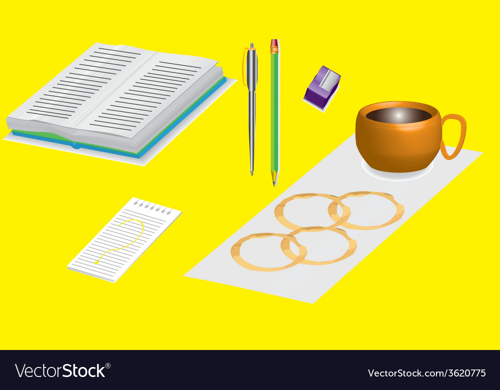 Office supplies 3d vector | Price: 1 Credit (USD $1)