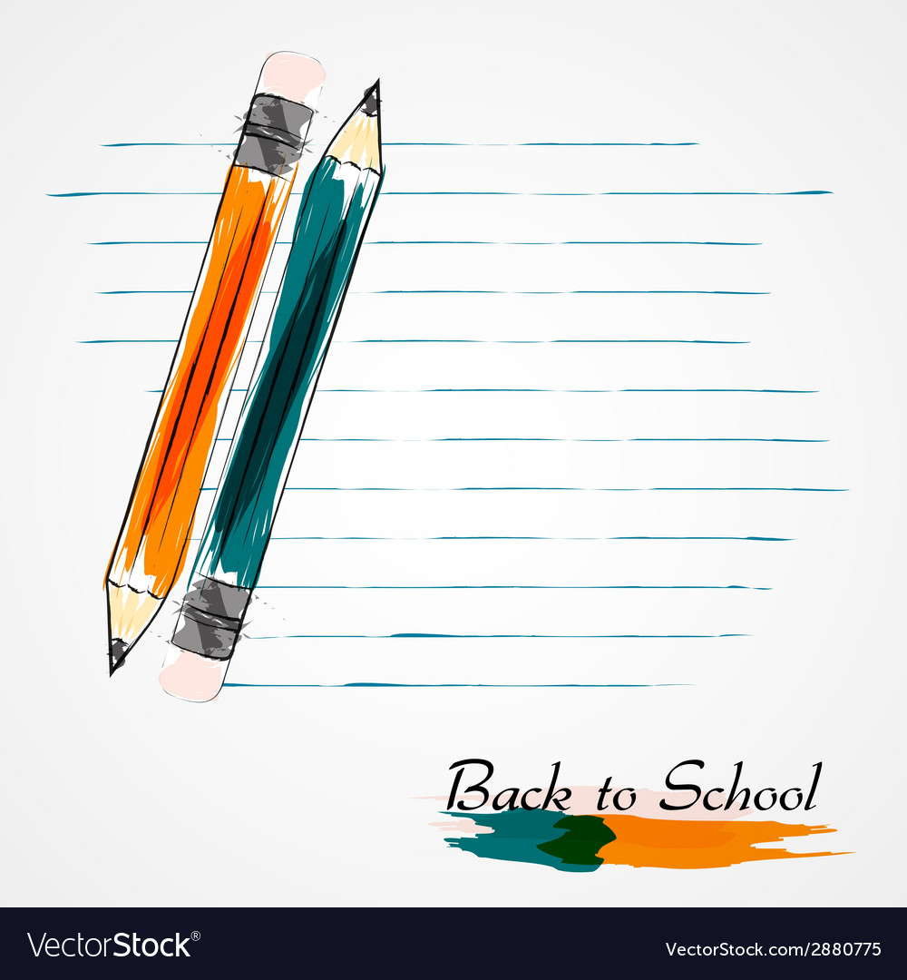 Orange and blue pencils vector | Price: 1 Credit (USD $1)