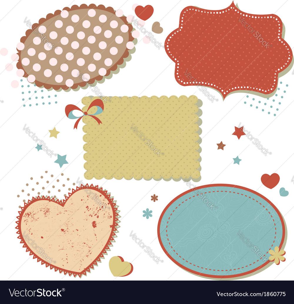 Retro romantic love stickers and tags vector   Price: 1 Credit (USD $1)