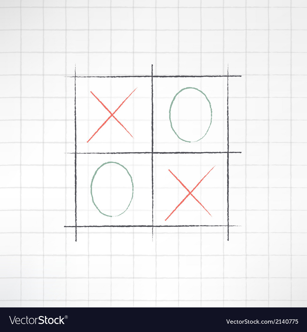 Sketch tic-tac-toe icon made in modern flat design vector | Price: 1 Credit (USD $1)