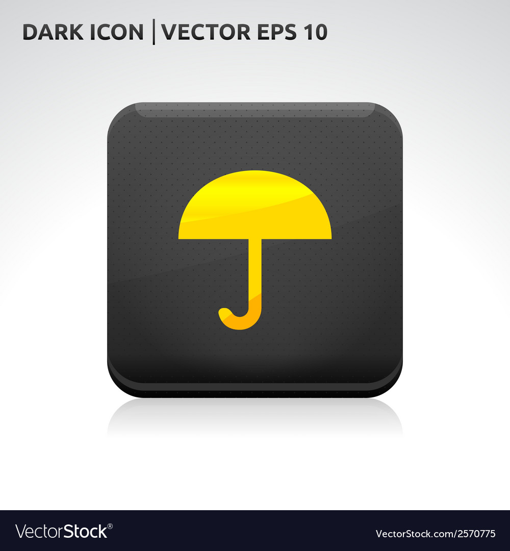 Umbrella icon gold vector | Price: 1 Credit (USD $1)