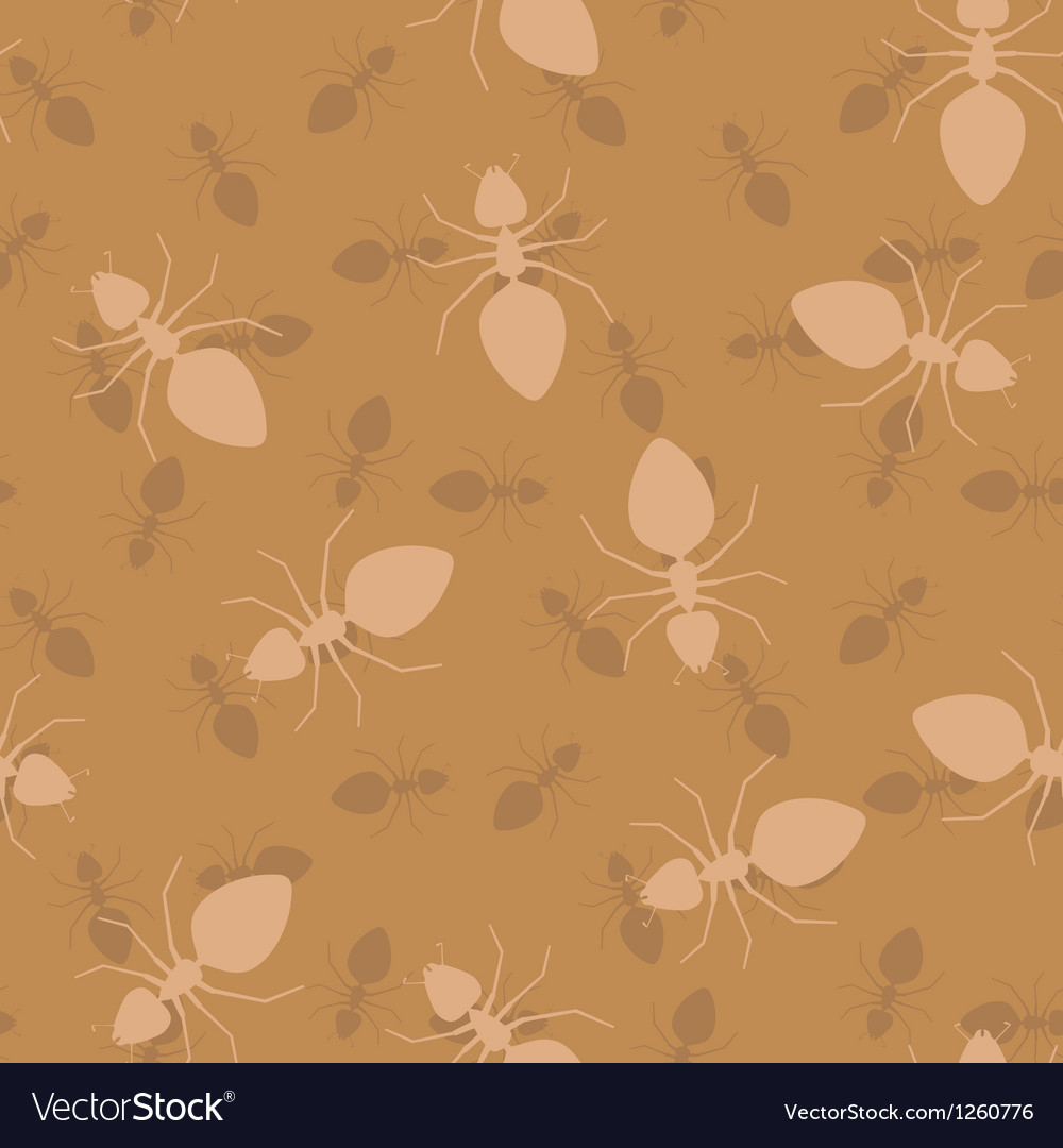 Ants seamless pattern background vector | Price: 1 Credit (USD $1)