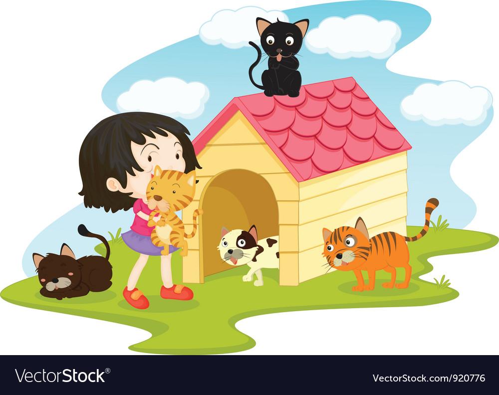 Cat girl vector | Price: 3 Credit (USD $3)
