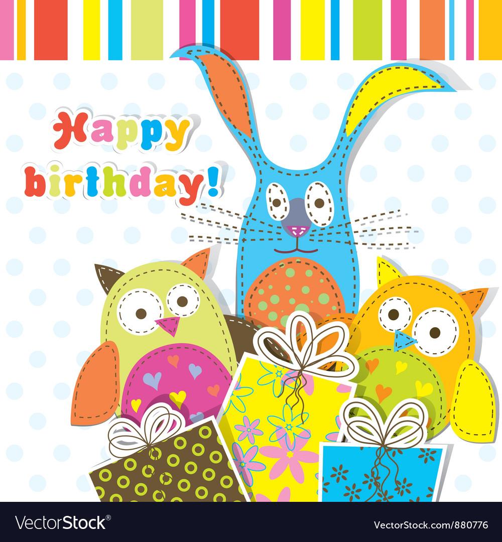 Children birthday card vector | Price: 1 Credit (USD $1)