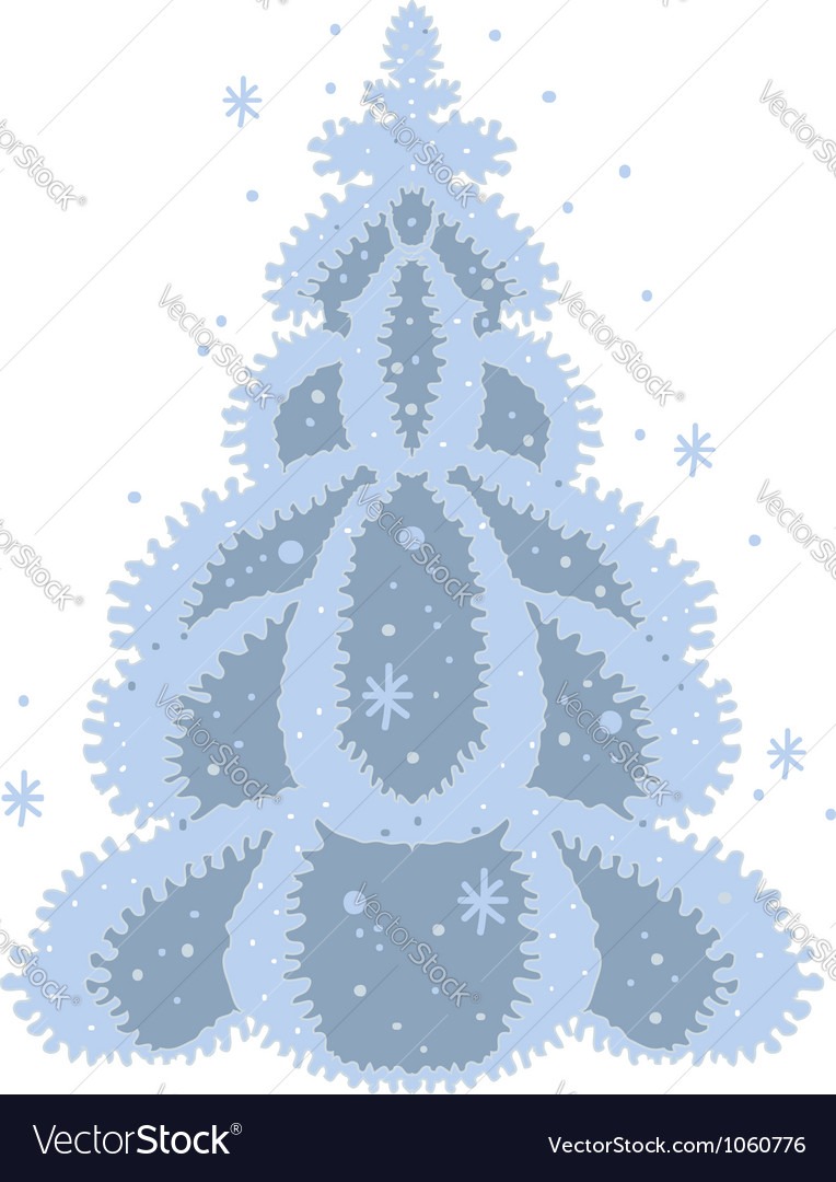 December tree vector | Price: 1 Credit (USD $1)