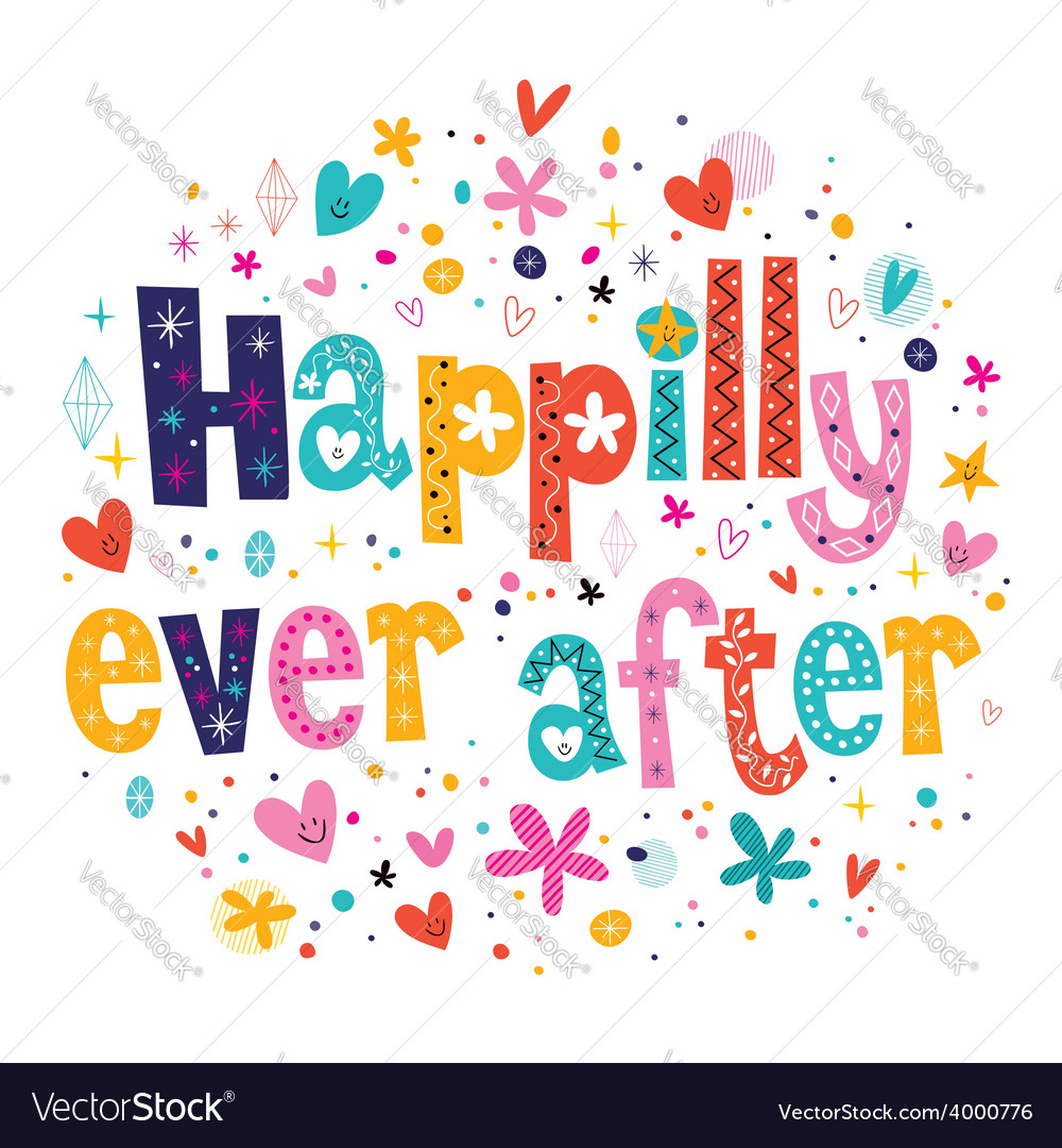 Happily ever after vector | Price: 1 Credit (USD $1)