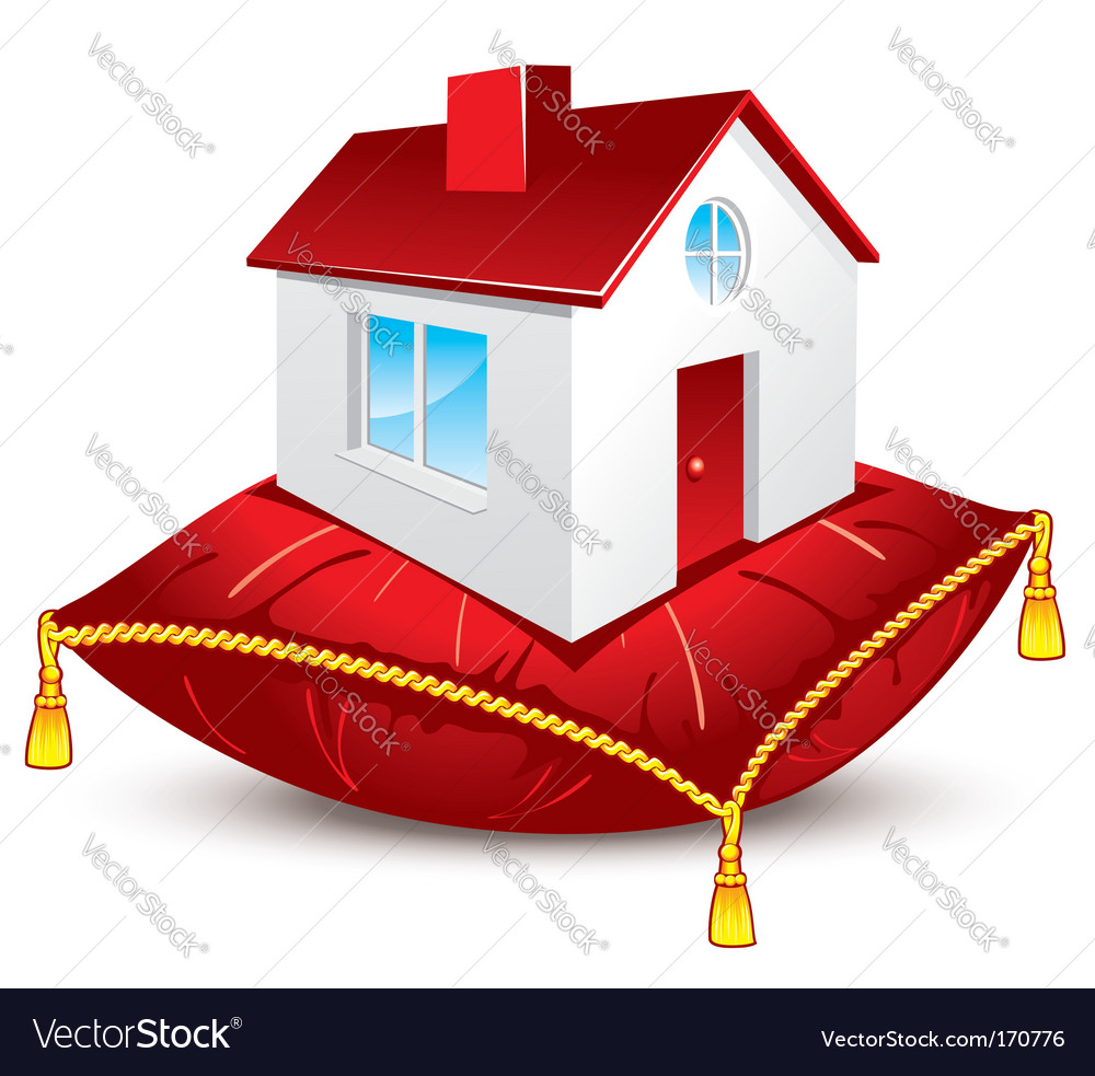 House on pillow vector | Price: 1 Credit (USD $1)