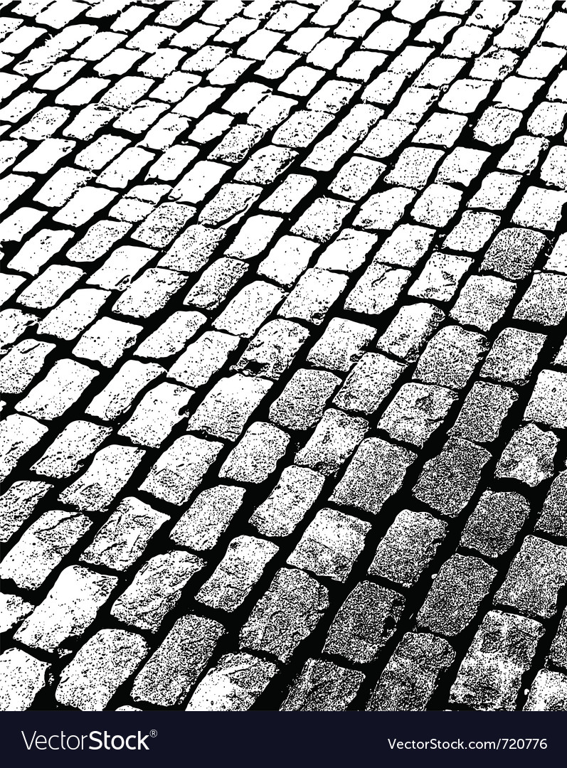 Old brick walkway vector