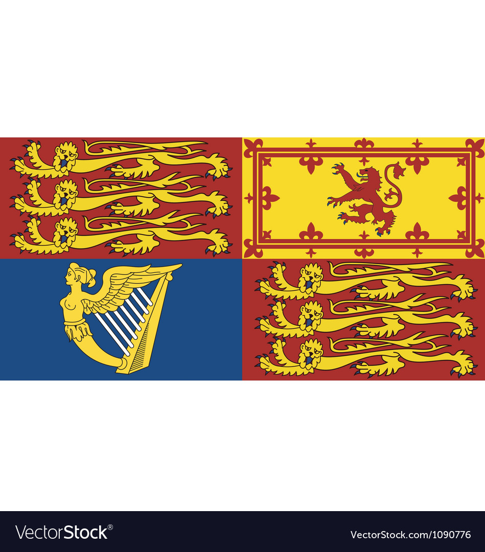Royal standard of the united kingdom vector | Price: 1 Credit (USD $1)