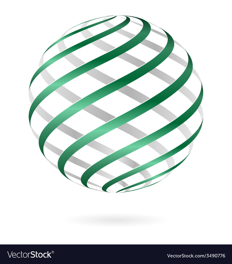 Spiral logo ball vector | Price: 1 Credit (USD $1)