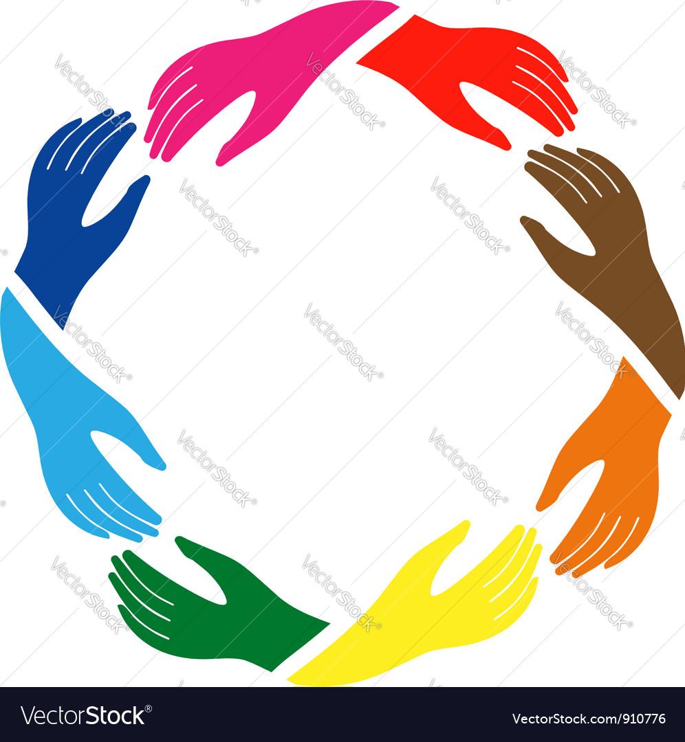Teamwork hands vector | Price: 1 Credit (USD $1)