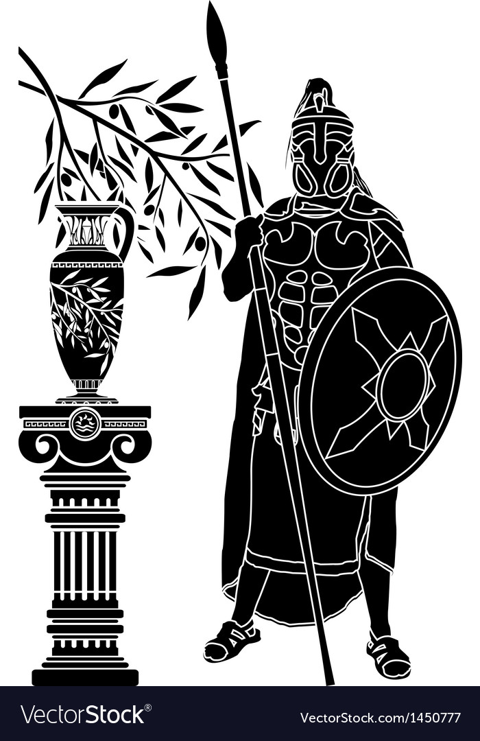 Ancient hellenic man vector | Price: 1 Credit (USD $1)