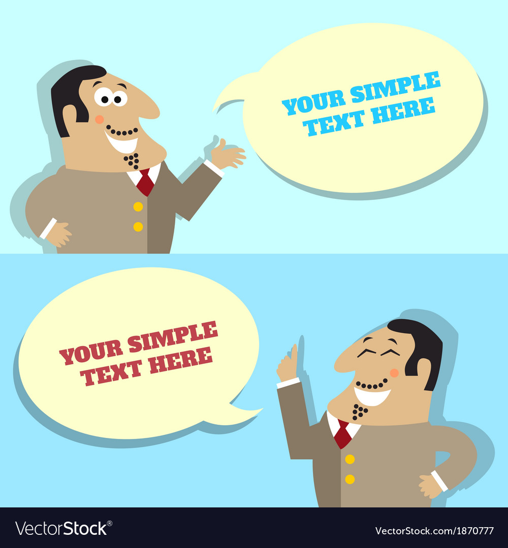 Businessman speech bubble with place for message vector | Price: 1 Credit (USD $1)