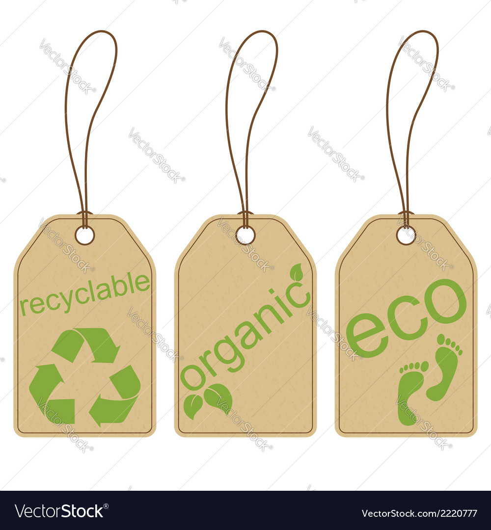 Eco friendly tags vector | Price: 1 Credit (USD $1)